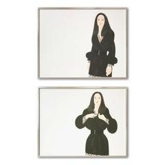 Maria I and II, Set of 2 Aquatints, Framed, Pop Art, Contemporary Art