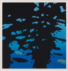 Reflection - Contemporary, 21st Century, Silkscreen, Limited Edition, Blue