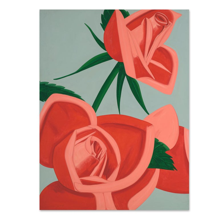 Alex Katz Still-Life Print - Rose Bud, Archival Pigment Print, Figurative Painting, 21st Century Pop Art