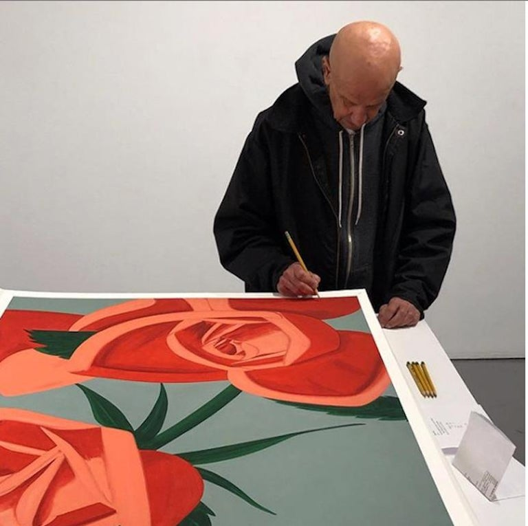 Rose Bud - Print by Alex Katz