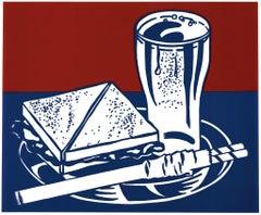 Roy Lichtenstein 'Sandwich and Soda' Screenprint 1964