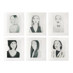 Six Female Portraits, Suite of 6 Prints, Pop Art, Contemporary Artist, Realism