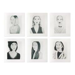 Six Female Portraits, Suite of 6 Prints, Pop Art, Contemporary Artist, Realism