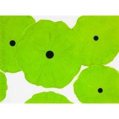 Six Greens Contemporary Donald Sultan Neon Green Silkscreen Print