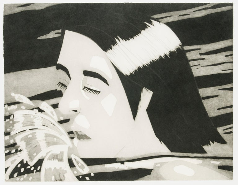 Alex Katz Figurative Print - The Swimmer