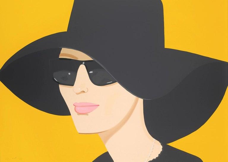Alex Katz Portrait Print - Ulla in Black Hat