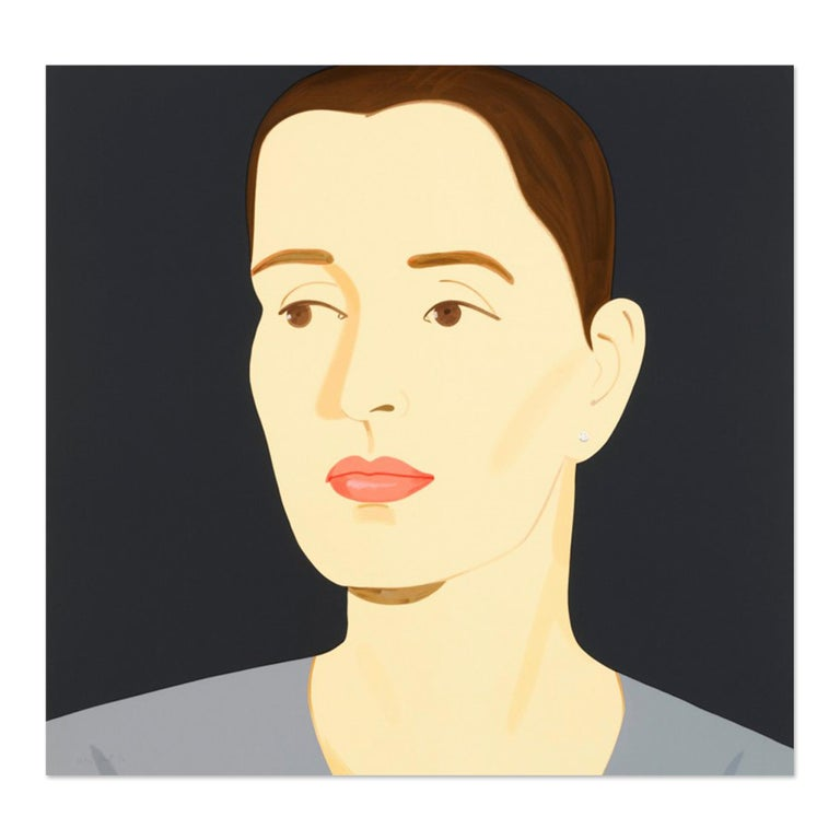 Alex Katz (1927, American) Vivien, 2012 Medium: Silkscreen in forty-one colors Dimensions: 39 x 41 inches (99 x 104 cm) Edition: 60 Artist Proofs: 12 Rising white, 2-ply Museum board Printed by Roberto Mercedes and Tim Watts at Brand X Editions, New