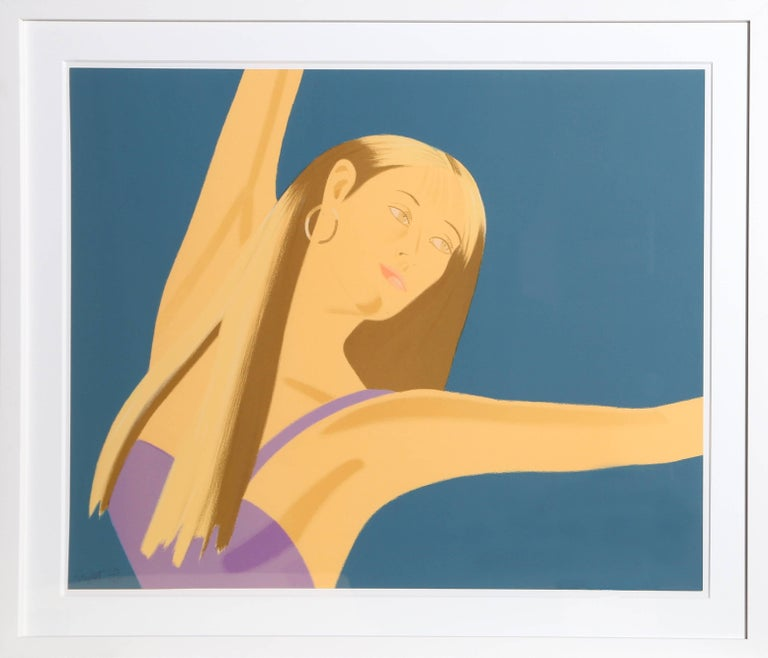 Artist: Alex Katz, American (1927 - ) Title: Night: William Dunas Dance II Year: 1979 Medium: Lithograph, signed and numbered in pencil Edition: 125 Size: 24 x 30.5 in. (60.96 x 77.47 cm) Frame Size: 31.5 x 38 inches