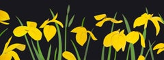 Yellow Flags 2 - 21st Century, Alex Katz Landscape Print, Black, Yellow, Flowers
