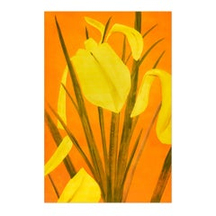 Yellow Flags 4, Still Life, Flowers, Contemporary Art, Pop Art