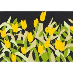 Yellow Tulips - Contemporary, 21st Century, Silkscreen, Limited Edition, Katz