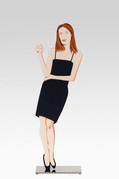 Black Dress 4 (Sharon) - 21st Century, Alex Katz, Figurative Sculpture, Woman