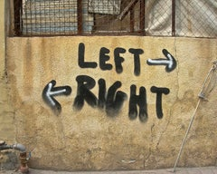 LEFT RIGHT - CONTEMPORARY PHOTO - COLOUR PHOTO - GRAFFITI