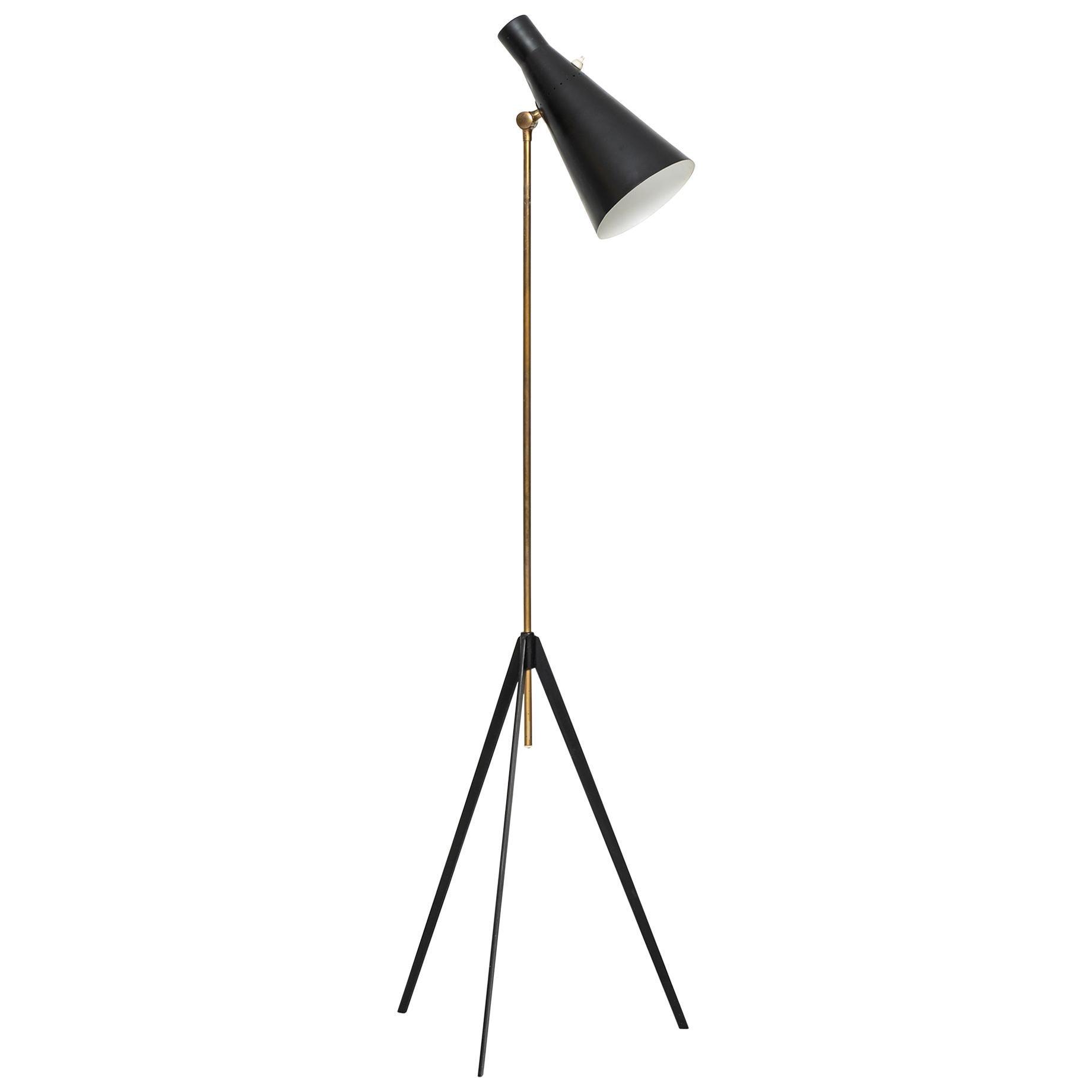 Alf Svensson Floor Lamp Model G-36 Produced by Bergbom in Sweden