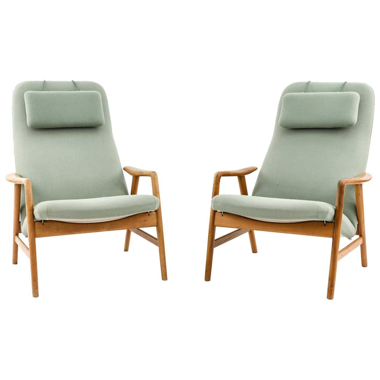Alf Svensson for Fritz Hansen Model 4312 Highback Lounge Chair