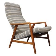 Alf Svensson, Fritz Hansen Lounge Chair, Fully Reupholstered