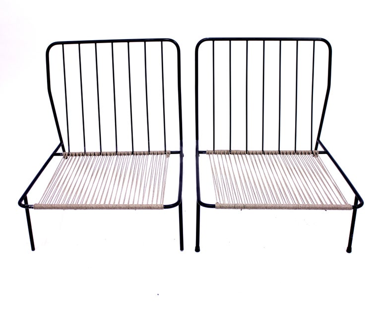 Alf Svensson, Pair of Domus Lounge Chairs, DUX, 1950s For Sale 6