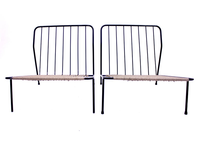 Alf Svensson, Pair of Domus Lounge Chairs, DUX, 1950s For Sale 7
