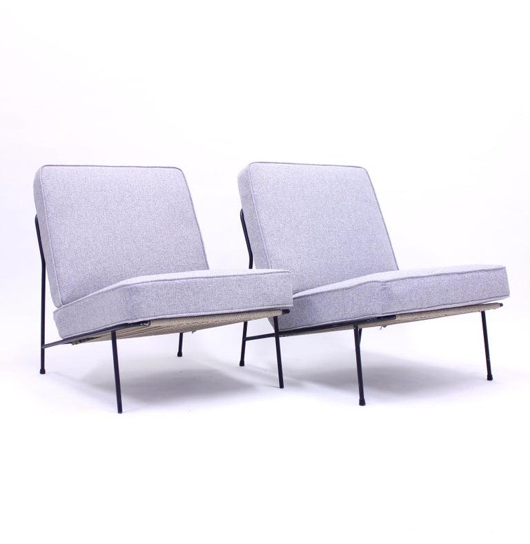 Scandinavian Modern Alf Svensson, Pair of Domus Lounge Chairs, DUX, 1950s For Sale