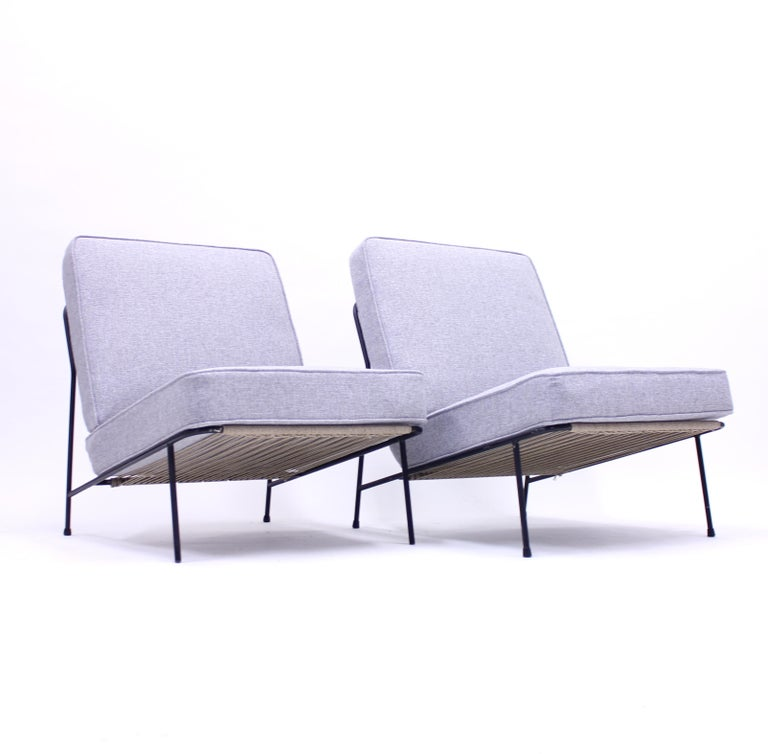 Swedish Alf Svensson, Pair of Domus Lounge Chairs, DUX, 1950s For Sale
