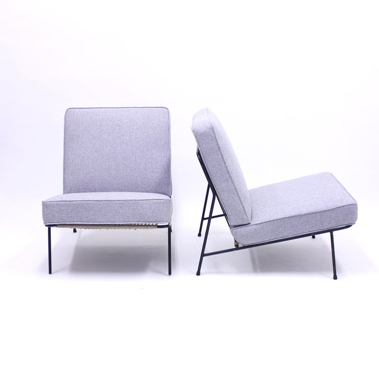 20th Century Alf Svensson, Pair of Domus Lounge Chairs, DUX, 1950s For Sale