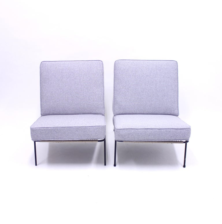 Steel Alf Svensson, Pair of Domus Lounge Chairs, DUX, 1950s For Sale
