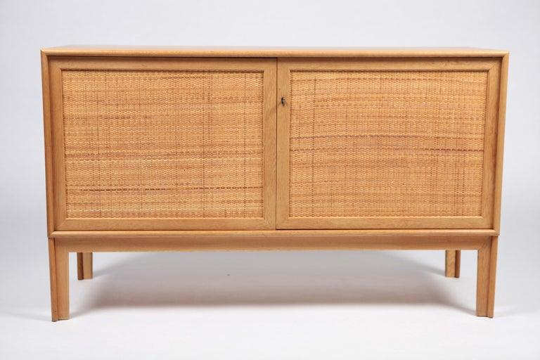 Alf Svensson, Sideboard in Oak and Rattan, Sweden, 1960s For Sale 4