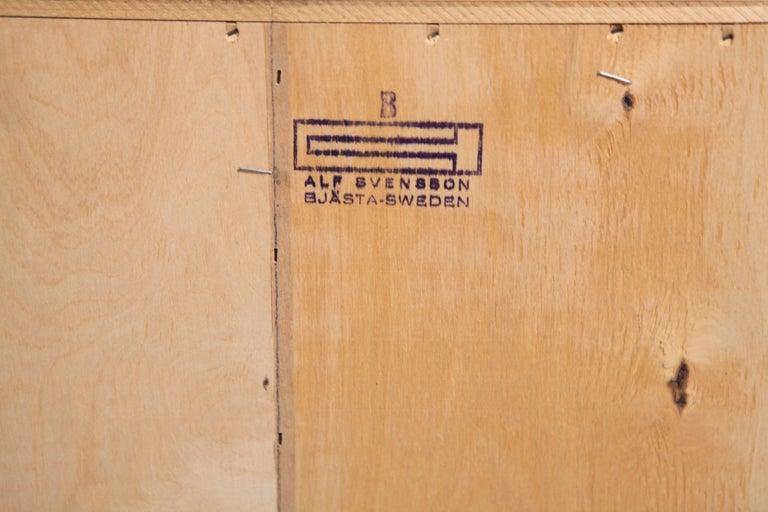Alf Svensson, Sideboard in Oak and Rattan, Sweden, 1960s For Sale 8