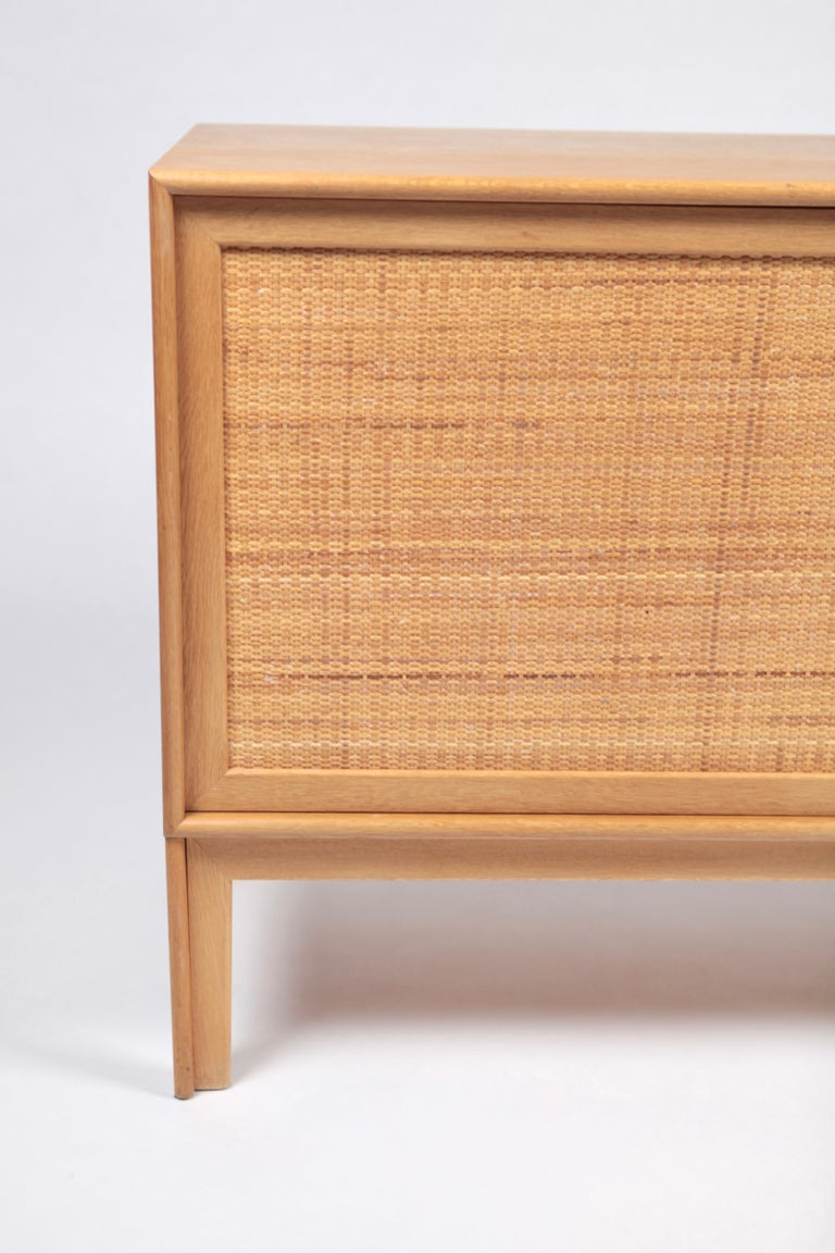 Alf Svensson, Sideboard in Oak and Rattan, Sweden, 1960s In Good Condition For Sale In , DE