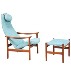 Alf Svensson Teak Lounge Chair with Ottoman for Ljungs Industrier