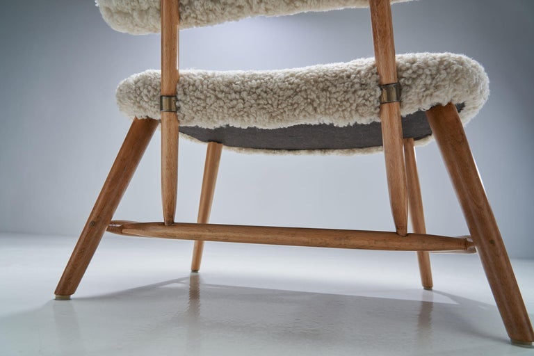 "Alf Svensson ""TeVe"" Chair for Studio Ljungs Industrier AB, Sweden, 1950s For Sale 6"