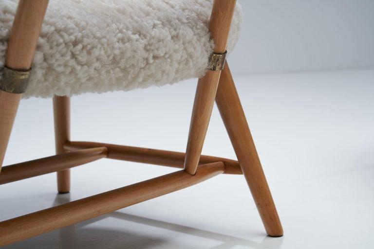 "Alf Svensson ""TeVe"" Chair for Studio Ljungs Industrier AB, Sweden, 1950s For Sale 7"