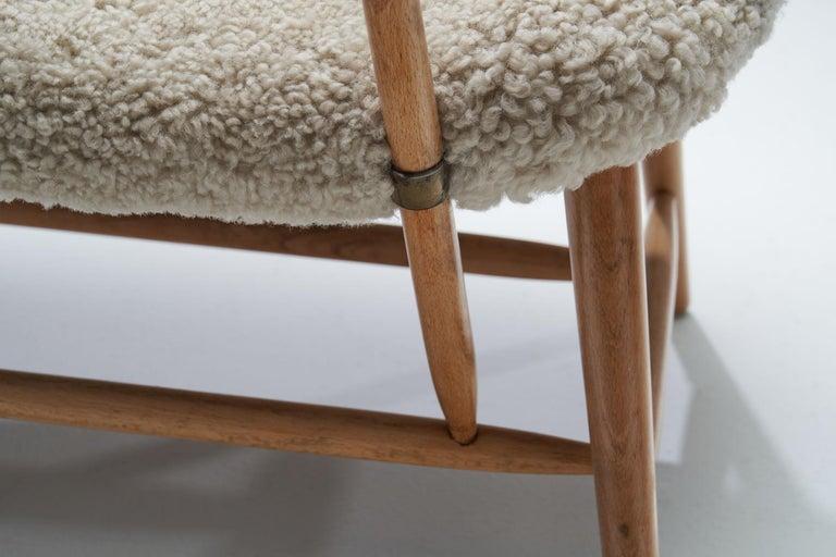 "Alf Svensson ""TeVe"" Chair for Studio Ljungs Industrier AB, Sweden, 1950s For Sale 9"
