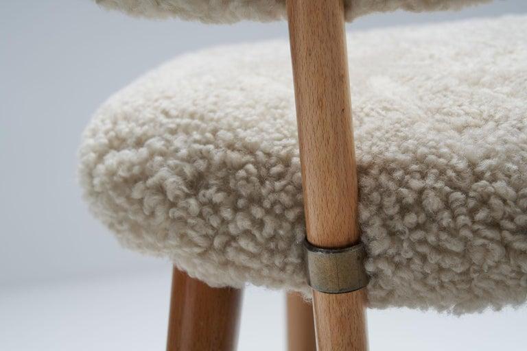 "Alf Svensson ""TeVe"" Chair for Studio Ljungs Industrier AB, Sweden, 1950s For Sale 11"