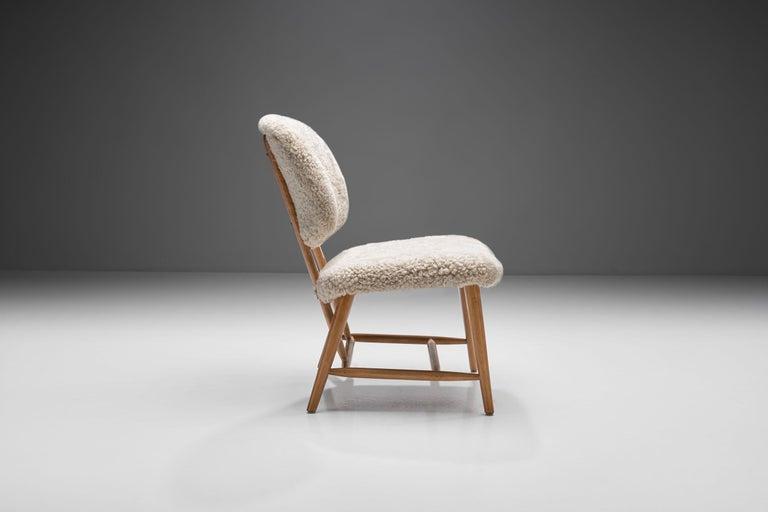 "Mid-Century Modern Alf Svensson ""TeVe"" Chair for Studio Ljungs Industrier AB, Sweden, 1950s For Sale"
