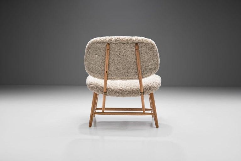 "Swedish Alf Svensson ""TeVe"" Chair for Studio Ljungs Industrier AB, Sweden, 1950s For Sale"