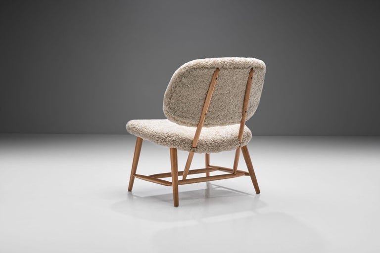 "Alf Svensson ""TeVe"" Chair for Studio Ljungs Industrier AB, Sweden, 1950s In Good Condition For Sale In Utrecht, NL"