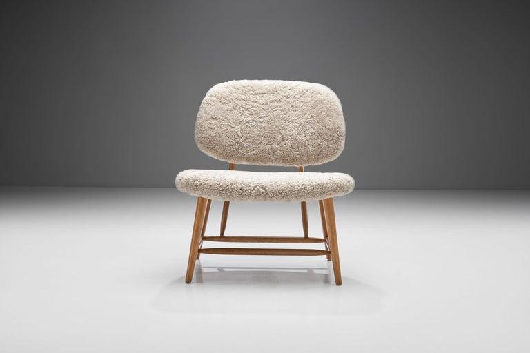 "Mid-20th Century Alf Svensson ""TeVe"" Chair for Studio Ljungs Industrier AB, Sweden, 1950s For Sale"