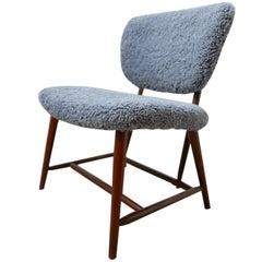Alf Svensson 'TeVe' Sheepskin Shearling Lounge Chair