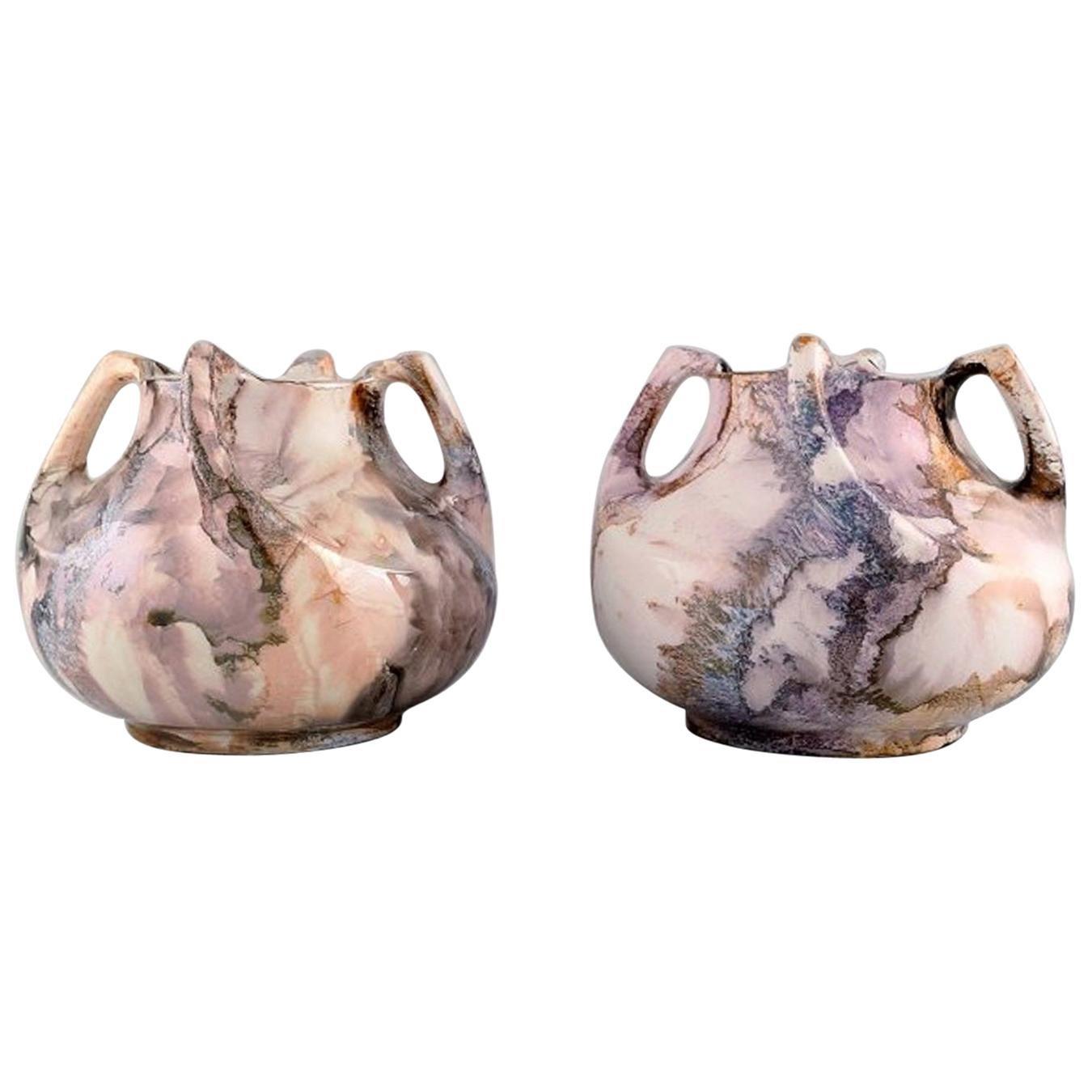 Alf Wallander for Rörstrand, a Pair of Vases in Glazed Ceramics