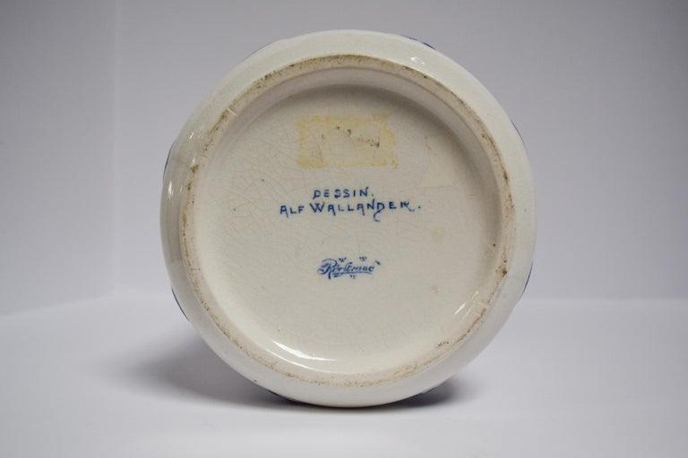 Art Nouveau Alf Wallander Pair of Fish Vases For Sale
