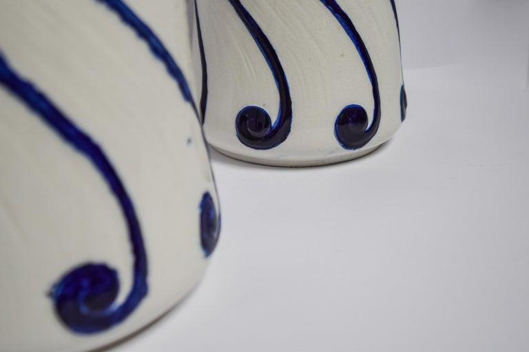 Swedish Alf Wallander Pair of Fish Vases For Sale
