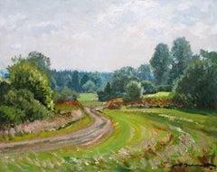 Summer landscape. 1978. Oil on cardboard, 40x50 cm