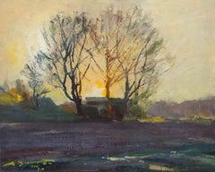 Sun rise. 1974, cardboard, oil, 40x49 cm