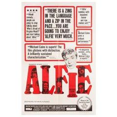 """Alfie"" 1966 U.S. One Sheet Film Poster"
