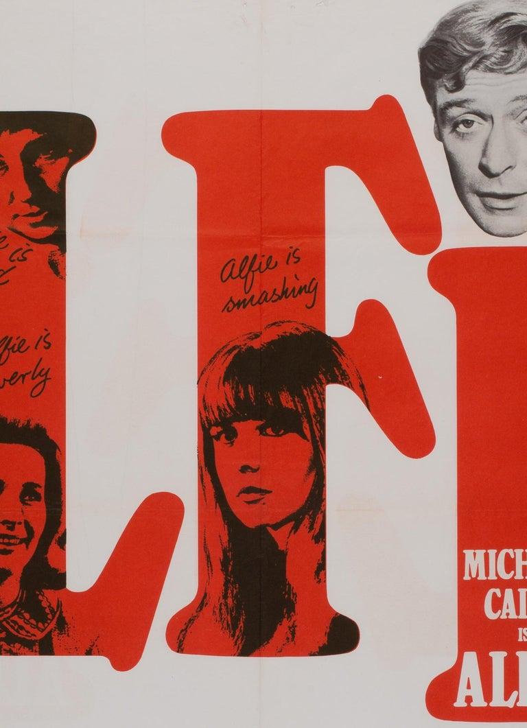 British Alfie UK Quad Film Movie Poster, 1966 For Sale