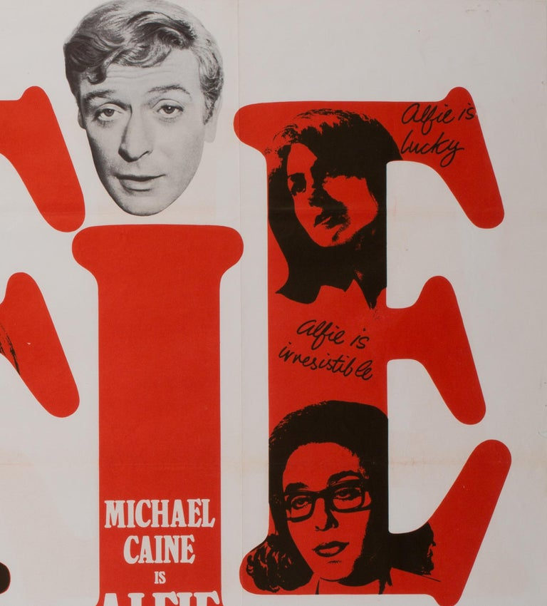 Alfie UK Quad Film Movie Poster, 1966 In Excellent Condition For Sale In Bath, Somerset