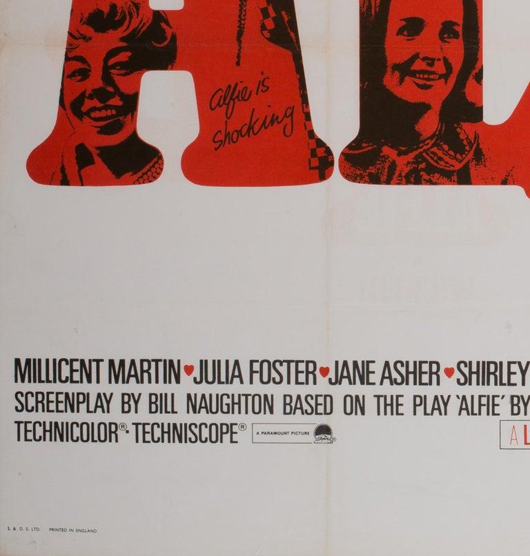 20th Century Alfie UK Quad Film Movie Poster, 1966 For Sale