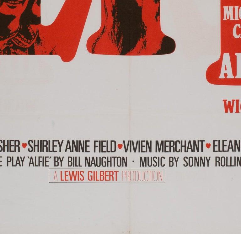 Paper Alfie UK Quad Film Movie Poster, 1966 For Sale