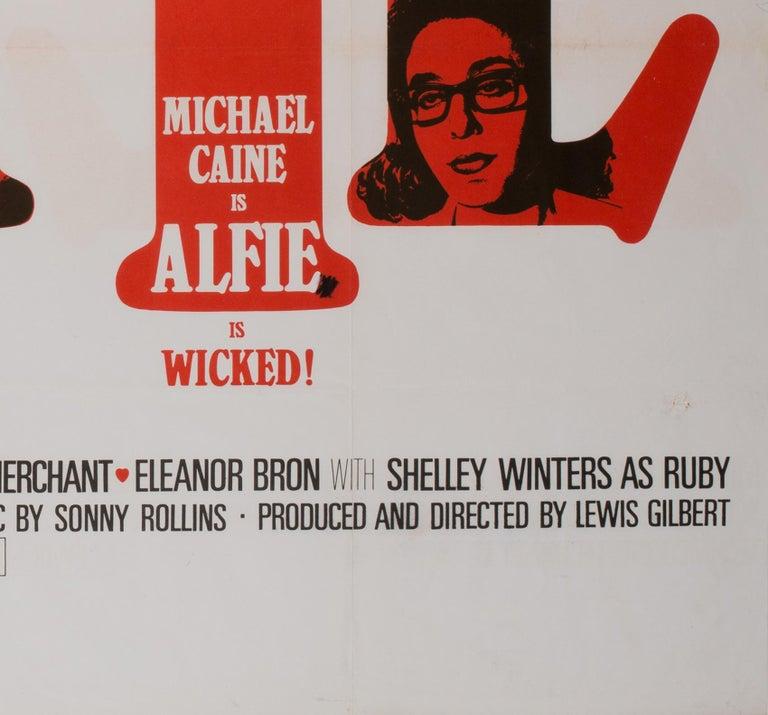 Alfie UK Quad Film Movie Poster, 1966 For Sale 1